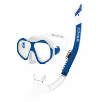 Body Glove Enlighten II Large/XL Diving Snorkel and Goggles Mask Set, Clear/Blue