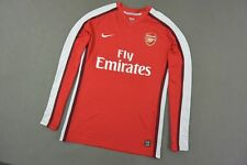 GUNNERS 2008-10 nike Arsenal Home Shirt Long Sleeve Player Issue SIZE XL adults