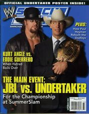 UNDERTAKER/JBL WWE Smackdown Wrestling Magazine September 2004 w/Poster