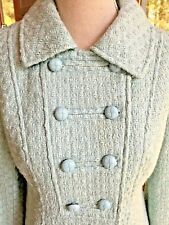 Tulle Teal Coat Women's Small Lined Waffle Weave Jacket