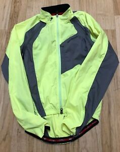 Specialized Hybrid Convertible Cycling Windbreaker Jacket Vest Small Neon