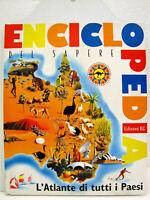 """Cartonato """"Enciclopedia del sapere"""" Atlante di tutti i Paesi 1977 1a Edizione EL"""