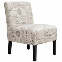 Armless Accent Chair Upholstered Chairs Tufted Sofa Modern Style for Living Room