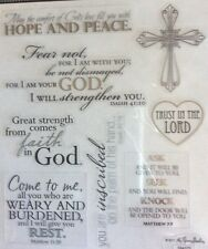 Religious Hope Peace Phrase Silver Foiled Scrapbook Stickers