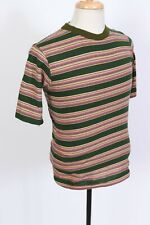 Vintage 70s 909 Collection Striped Cotton T-Shirt USA Mens Size Small