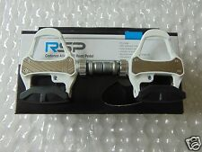 RSP Cadence SPD Road Pedal White CNC CHROMO AXLE RRP £38.99 LOOK KEO COMPATIBLE