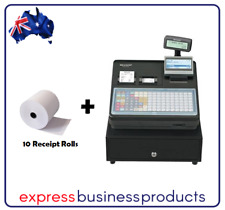 Sharp ER-A421 Electronic Dual Roll Thermal Cash Register + 10 Free Rolls