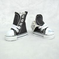 Yo SD OB Male 1/6 Bjd Doll Shoes Denim Folded Sneaker Black (Foot 4.5cm long)