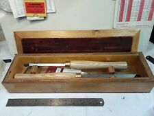 Pair Wood Lathe Bowl turning fixed angle ring tool chisel R SORBY & Ashley Isles