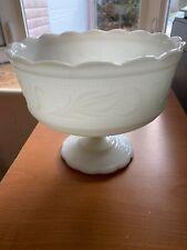 Vintage Milk Glass E.O. Brody Co., Cleveland, O. U.S.A Pedestal Candy Dish 50's
