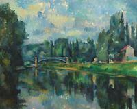 Bridge Across The Marne Paul Cezanne Wall Art Print on Canvas Painting Repro SM