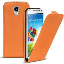 Flip case Samsung Galaxy s4 funda PU Cuero Funda plegable bolsa celular cover Orange