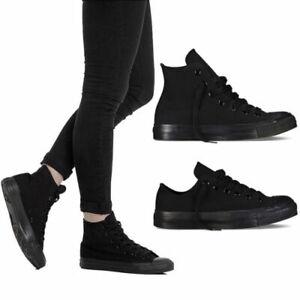 Scarpe uomo/donna TW sneakers in tela alta e bassa nero all black