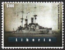 SMS KAISER BARBAROSSA German Pre-Dreadnought Battleship WWI Warship Stamp
