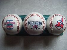 1994 Cleveland Indians McDonalds 3 Ball Baseball Set : Belle/Baerga Wahoo Jacobs