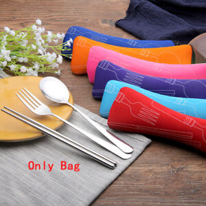 Portable Cutlery Bags Tableware Pouch For Travel Storage Chopsticks Fork Spoon