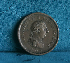 Great Britain Penny 1807 Copper World Coin UK Seated Britania GB England