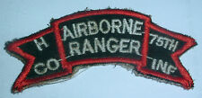 AMERICAN PATCHES-AIRBORNE RANGER H-CO 75th INF PATCH LOCALY MADE VIETNAM ERA