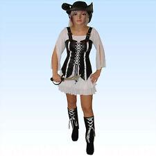 Exklusives Piratenkostüm Größe M Sexy 6-teilig Pirat Kombination Kleid Piratin