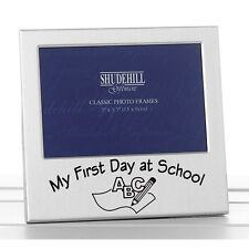 "My First Day at School Satin Silver Photo Frame - 5""x3"" Landscape 72228"