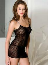 XL Plus Size Sheer Black Spider Web Chemise Sexy XL Halloween Lingerie P6907 Q