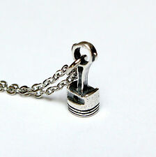 Tiny Sterling Silver Piston and Rod Pendant Necklace 300