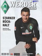 Werder Magazin Bremen + Hannover 96 + 03.11.2013 + Programm + Stadionmagazin +