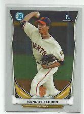 Kendry Flores San Francisco Giants 2014 Bowman Chrome Baseball