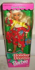 #4577 Nrfb Mattel Holiday Dreams Christmas Barbie 2nd in Series Special Edition