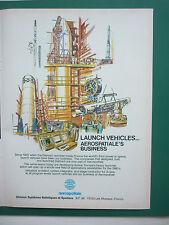 11/1979 PUB AEROSPATIALE ESPACE SPACE LAUNCH VEHICLE FUSEE ARIANE ORIGINAL AD