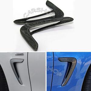 Real Carbon Fiber Side Fender Vent Trim For BMW F32 F33 F36 440i 4 Series 2014+
