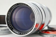 Canon 135mm f/3.5 Leica LTM L39 Mount RF Lens w/rear cap,case,finder,filter #119