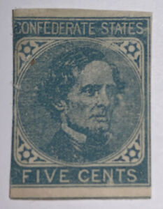 Travelstamps: US Stamps CONFEDERATE CSA SCOTT #7 MINT NG 5 CENT