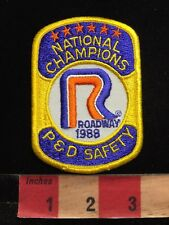 Vtg 1988 ROADWAY EXPRESS NATIONAL CHAMPIONS P & D SAFETY Trucking Patch 87WA