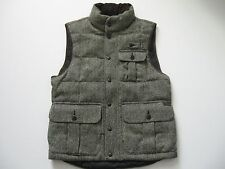 POLO RALPH LAUREN Men's Leather Trim Wool Montville Tweed Down Vest S
