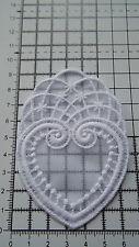 White, Guipure Lace,Applique,Trimmings,Wedding- Heart Motifs - 6cm x 9 cm