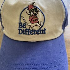 """New listing Disney Parks x Junk Food Timothy Mouse """"Be Different"""" Baseball Cap-Nwt"""