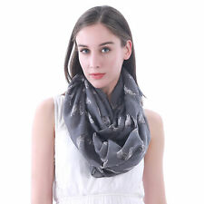 Siberian Husky Dog Print Womens Infinity Loop Scarf Pet Lover Gift Idea for Her