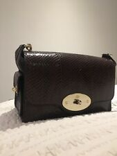 6064726610 Rare gorgeous Mulberry Brooke Snakeskin chain handle bag
