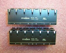 QTY (1) 85728-1004 MOLEX 12 PORT (2x6) CAT5, CAT5E MAGJACK MODULAR JACK LEDS