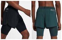 "Nike AeroSwift Men's 4"" Running Hybrid Shorts 2in1 Built-in Thights Gym Sports"