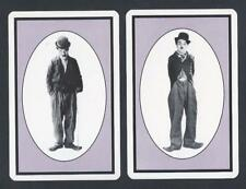 #950.068 vintage swap card -NEAR MINT pair- Charlie Chaplin