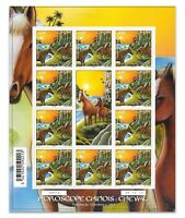 French Polynesia 2014 Year of The Horse Sheet/10 Stamps Mint Unhinged Scott 1120