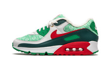 Nike Air Max 90 Nordic Christmas Sweater 2020 Green Red White Dc1607-100 Men's