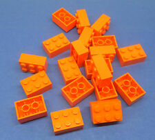 Lego 20 x base piedra 2x3 Orange Orange Basic Brick 3002 4153826