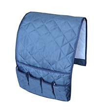 Organizer Couch Remote Control Caddy Arm Chair Holder Storage Pocket Dark Blue