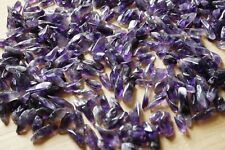 NEW 100% Natural Lot of Tiny Clear Amethyst Quartz Crystal Rock Chips 50g v7
