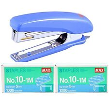 Max Staplers HD-10D with 2 Box No.10-1M 5mm Mini 1000 Staples Japan Office Home