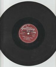 "JACK DANIELS / THREE QUEENS 10"" 78rpm- GATEWAY TOP TUNE # 1221"