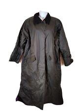 Misty Harbor Long Black Insulated Rain Coat - Size Large